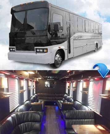 Silver Party Bus